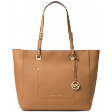 Michael Kors Walsh large saffiano leather tote acorn