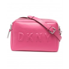 DKNY Tilly camera crossbody bag double zip růžová