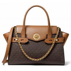 Michael Kors kabelka Carmen large signature brown