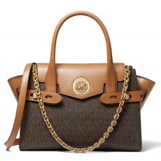 Michael Kors kabelka Carmen small logo brown/acorn
