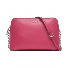 DKNY Bryant dome crossbody leather růžová