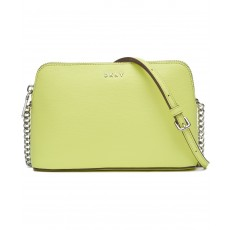 DKNY Bryant dome crossbody leather citron žlutá
