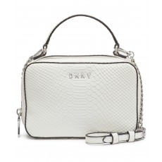 DKNY Ashley crossbody faux leather bílá