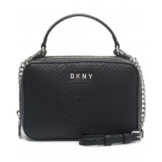 DKNY Ashley crossbody faux leather černá