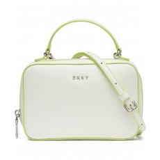 DKNY Ashley crossbody leather white/citron