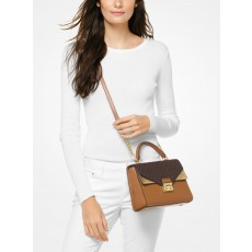 Michael Kors kabelka Sloan medium top handle brown multi