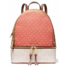 Michael Kors Rhea zip medium backpack pink grape/vanilla