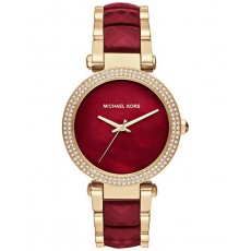 Hodinky Michael Kors Parker gold tone/red MK6427