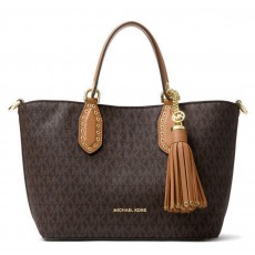 Michael Kors kabelka Brooklyn small logo brown hnědá
