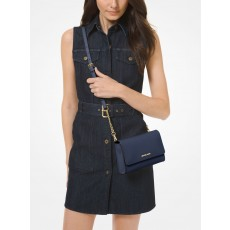 Michael Kors saffiano leather crossbody wristlet 3 v 1 navy modrá