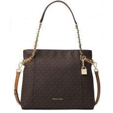 Michael Kors kabelka Remy signature brown