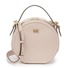 Michael Kors Delaney medium leather canteen crossbody soft pink růžová