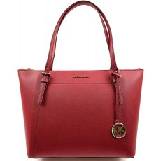 Michael Kors Ciara large saffiano leather scarlet červená