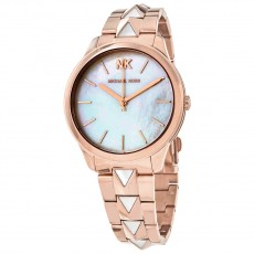 Hodinky Michael Kors Runway Mercer rose gold white MK6671