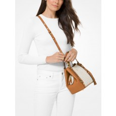Kabelka Michael Kors Carrie medium logo vanilla