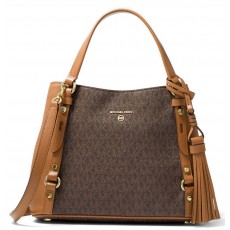 Kabelka Michael Kors Carrie medium logo brown hnědá