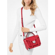 Kabelka Michael Kors Manhattan medium leather satchel bright red červená