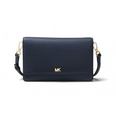 Michael Kors covertible pebble leather crossbody admiral modrá