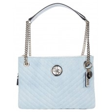 Guess kabelka Blakely shoulder bag denim modrá
