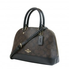 Coach mini Sierra kabelka logo brown black F27583