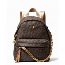 Michael Kors batoh Slater extra small logo signature brown