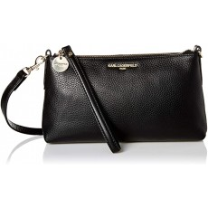 Karl Lagerfeld Heather crossbody leather černá
