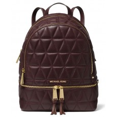Michael Kors batoh Rhea medium quilted leather barolo