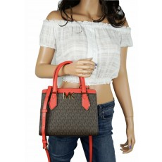 Kabelka Michael Kors Mott medium signature brown coral