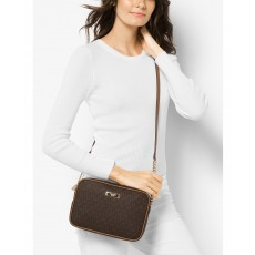 Michael Kors jet set large crossbody logo brown/gold