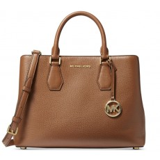 Michael Kors kabelka Camille large pebble leather luggage hnědá