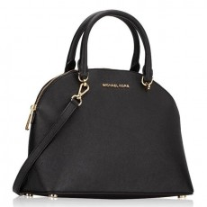 Michael Kors kožená kabelka Emmy large leather black