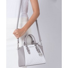 Michael Kors Ciara medium messenger bright white