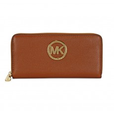 Michael Kors peněženka Fulton zip around continental brown