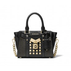 Kabelka Michael Kors Nouveau Hamilton small crossbody studded black gold