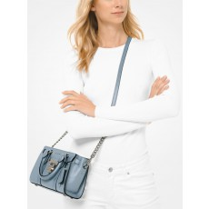 Kabelka Michael Kors Nouveau Hamilton small crossbody pale blue
