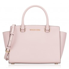 Michael Kors Selma medium saffiano leather satchel blossom
