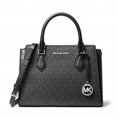 Michael Kors Hope medium messenger logo black