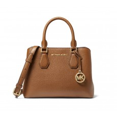 Michael Kors kabelka Camille small pebble leather luggage hnědá