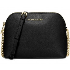 Michael Kors kožená kabelka Cindy large dome crossbody black