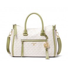 Michael Kors Carine medium logo kabelka light sage