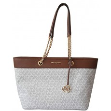 Michael Kors kabelka jet set east west chain Shania signature vanilla