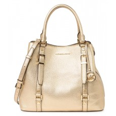Kabelka Michael Kors Bedford Legacy large metalic leather pale gold zlatá