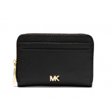 Michael Kors peněženka zip around pebbled leather black