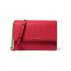 Michael Kors crossbody Daniela large saffiano bright red červená