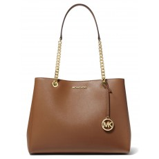 Michael Kors Susannah large saffiano leather kabelka luggage hnědá