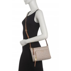 Calvin Klein Lily crossbody monogram taupe brown