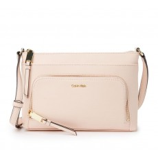 Calvin Klein Lily crossbody saffiano leather pale blush růžová