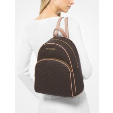 Michael Kors batoh Abbey medium logo brown soft pink