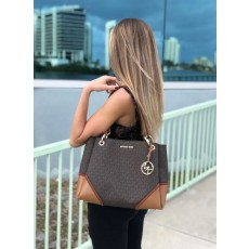 Michael Kors kabelka Nicole large signature brown
