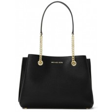 Michael Kors Teagan large pebbled leather kabelka black gold